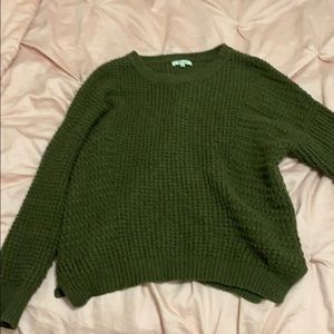 Olive green wool madewell sweater